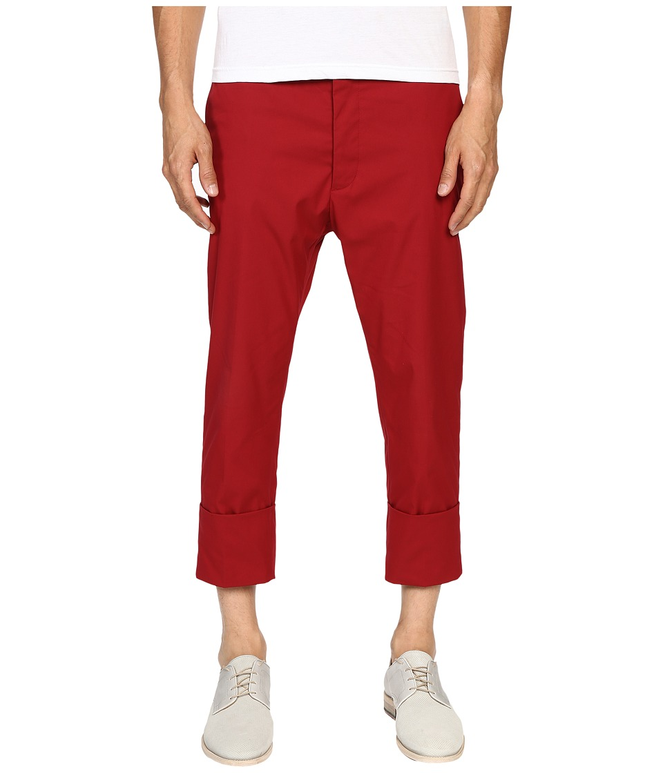 Vivienne Westwood - James Bond Stretch Cotton Cropped Trousers (Red) Men's Casual Pants