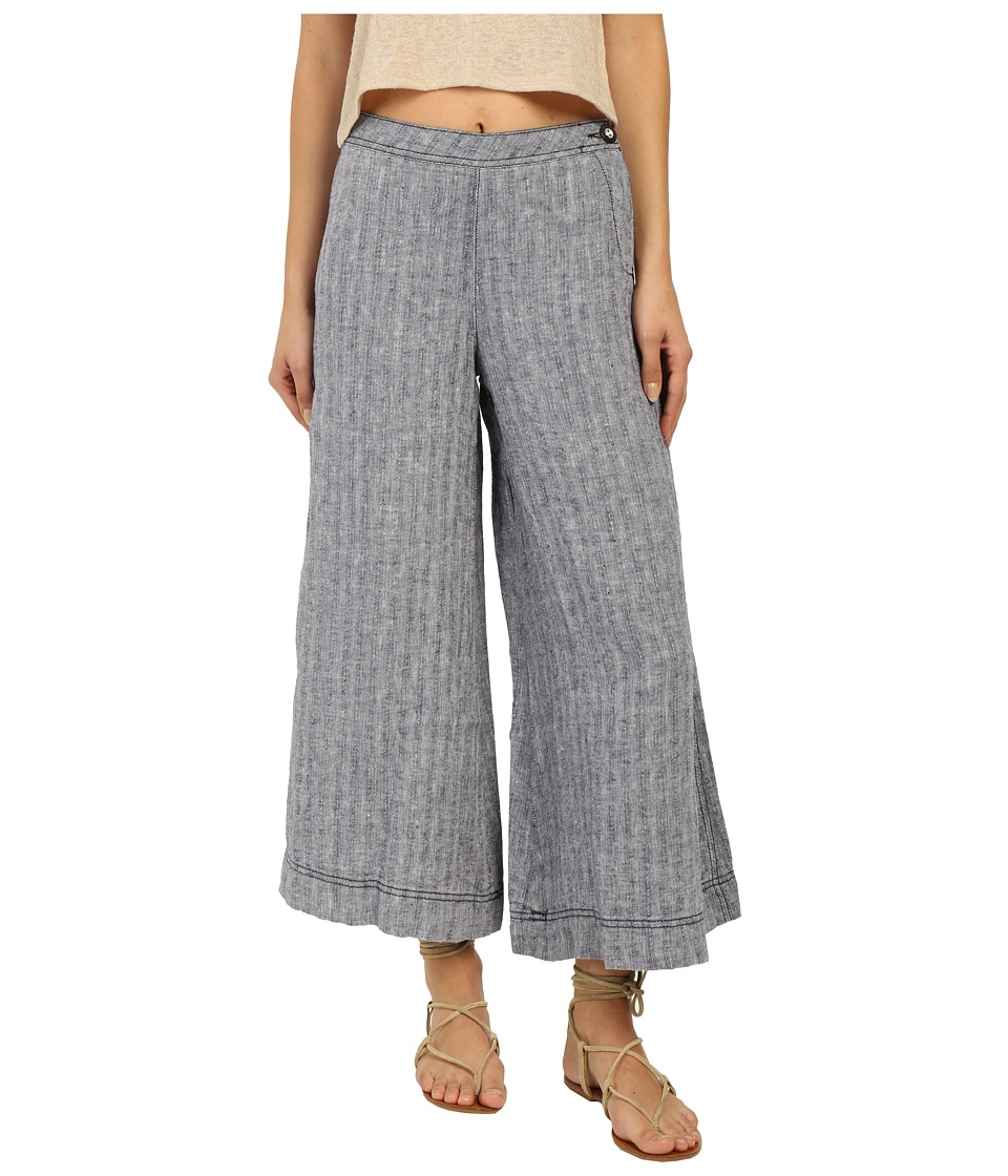Free People - Sani Culotte Woven Bottom (Blue Combo) Women's Clothing