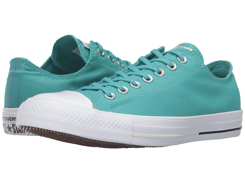 Converse - Chuck Taylor All Star Shield Canvas Ox (Aegean Aqua/Black/Buff) Lace up casual Shoes