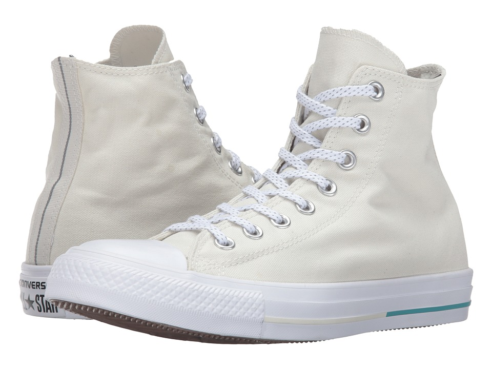Converse - Chuck Taylor All Star Shield Canvas Hi (Buff/Aegean Aqua/White) Lace up casual Shoes