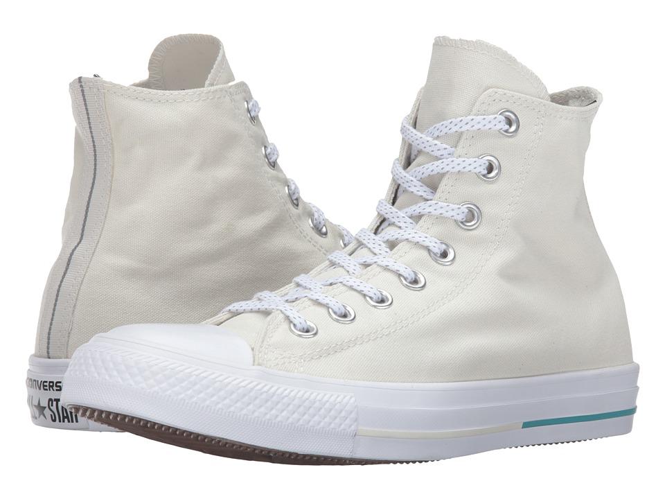 Converse - Chuck Taylor All Star Shield Canvas Hi (Buff/Aegean Aqua/White) Lace up casual Shoes