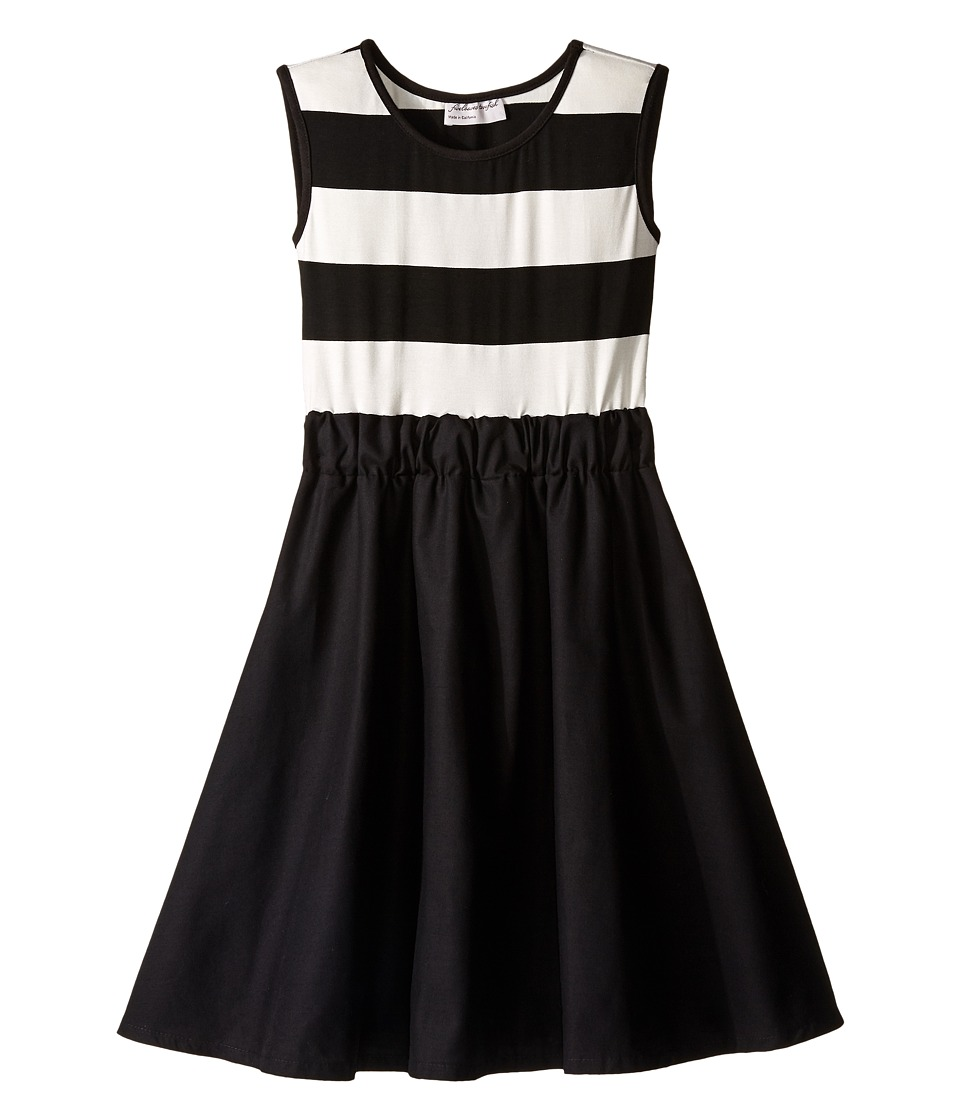 fiveloaves twofish - Romeo Juliet Dress (Little Kids/Big Kids) (Black/White) Girl's Dress