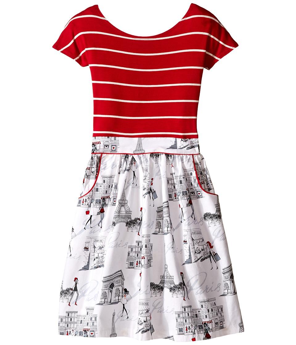 fiveloaves twofish - Giselle Dress (Little Kids/Big Kids) (Red) Girl's Dress