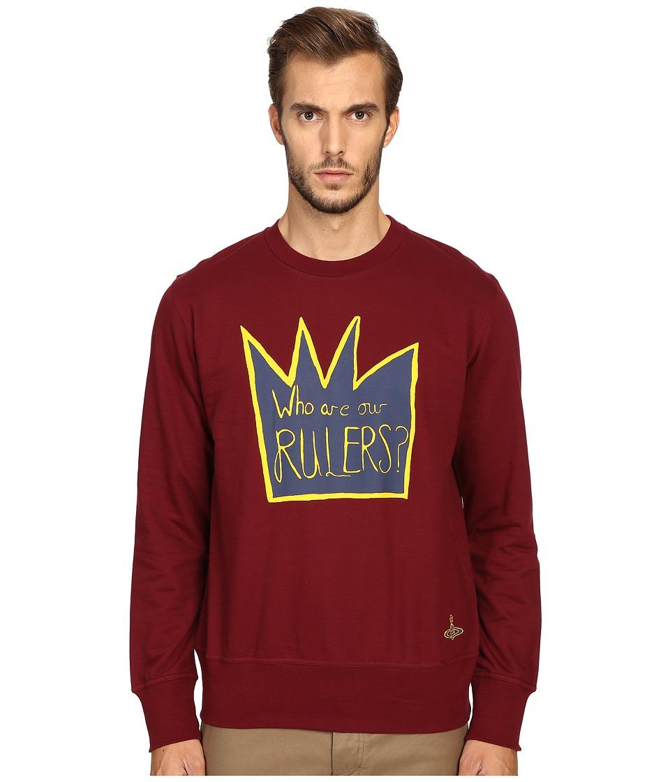 Vivienne Westwood - Rulers Sweatshirt (Burgundy) Men's Sweatshirt