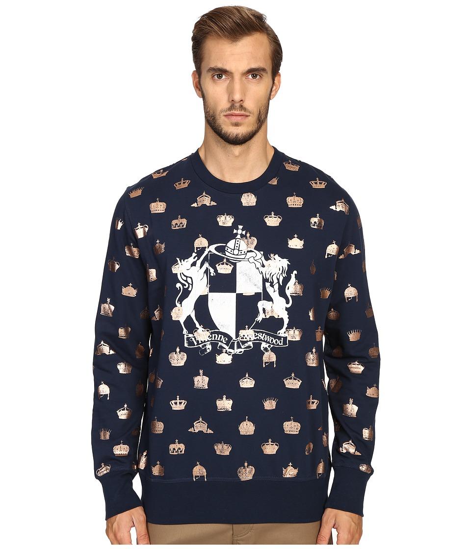 Vivienne Westwood - Horse Lion Sweatshirt (Navy) Men's Sweatshirt