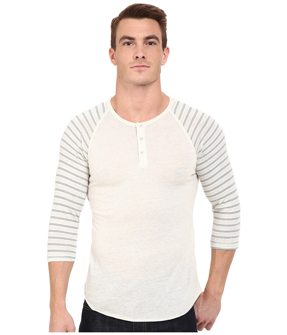 Alternative - Printed 3/4 Raglan Henley (Eco Wheat/Eco Wheat Stitch Stripe) Men's T Shirt