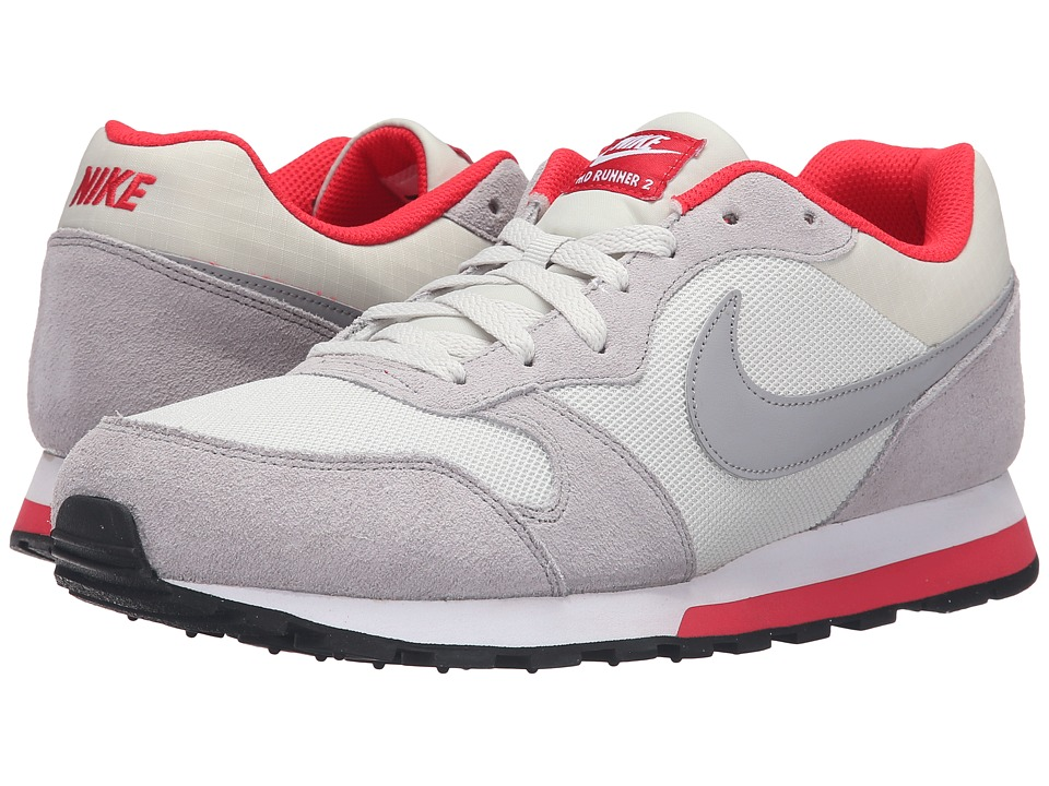 Nike - MD Runner 2 (Light Bone/Metallic Silver/Action Red/White) Men's Classic Shoes