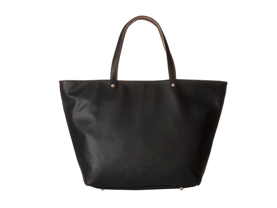 Deux Lux - Hudson Contrast Trim Tote (Black) Tote Handbags