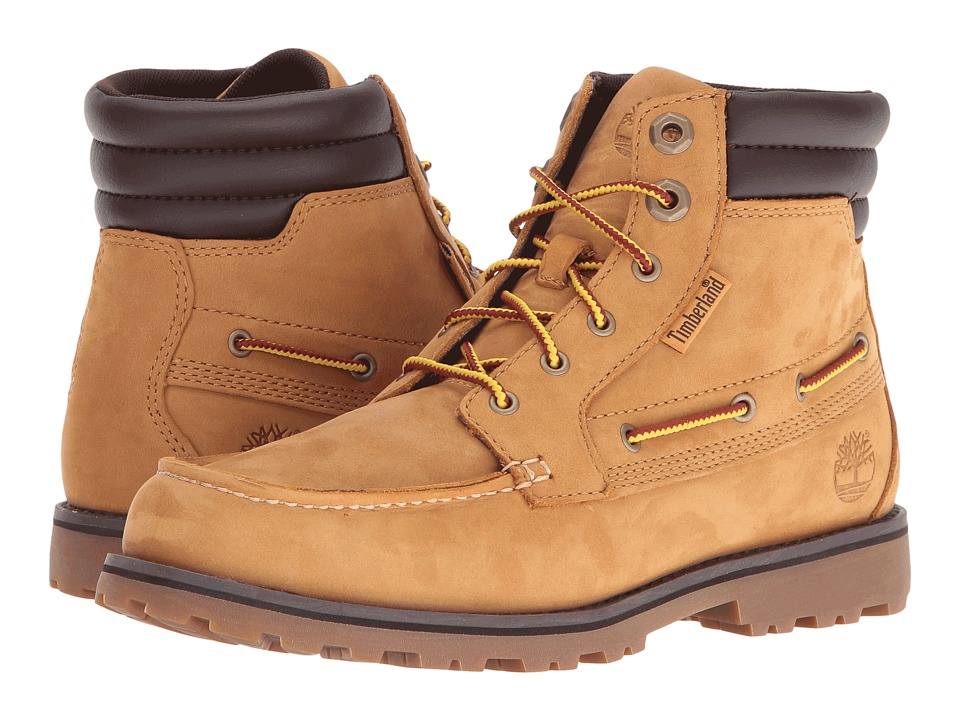Timberland Kids - Oakwell Boot (Big kid) (Wheat Nubuck) Kid's Shoes