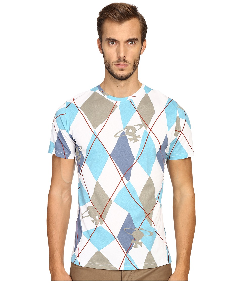 Vivienne Westwood - Harlequin Diamonds T-Shirt (Light Blue) Men's T Shirt