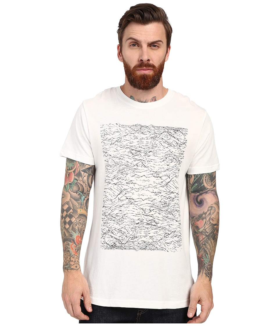 Alternative - Cotton Modal Crew (White Riptide) Men's T Shirt