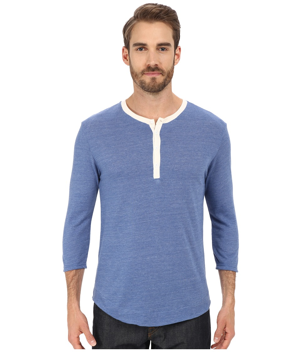 Alternative - Eco Jersey Pastime Henley (Eco True Ocean Blue) Men's Long Sleeve Pullover