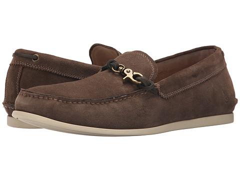 John Varvatos - F1539R2B A12B 220 (Clay Brown) Men's Slip on Shoes