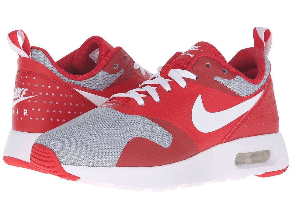 Nike Kids Air Max Tavas GS (Big Kid) (University Red/Wolf Grey/Black/White) Boys Shoes