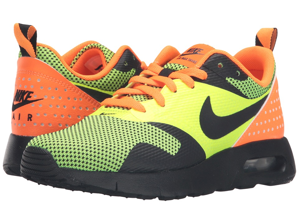 Nike Kids - Air Max Tavas GS (Big Kid) (Volt/Total Orange/Black) Boys Shoes