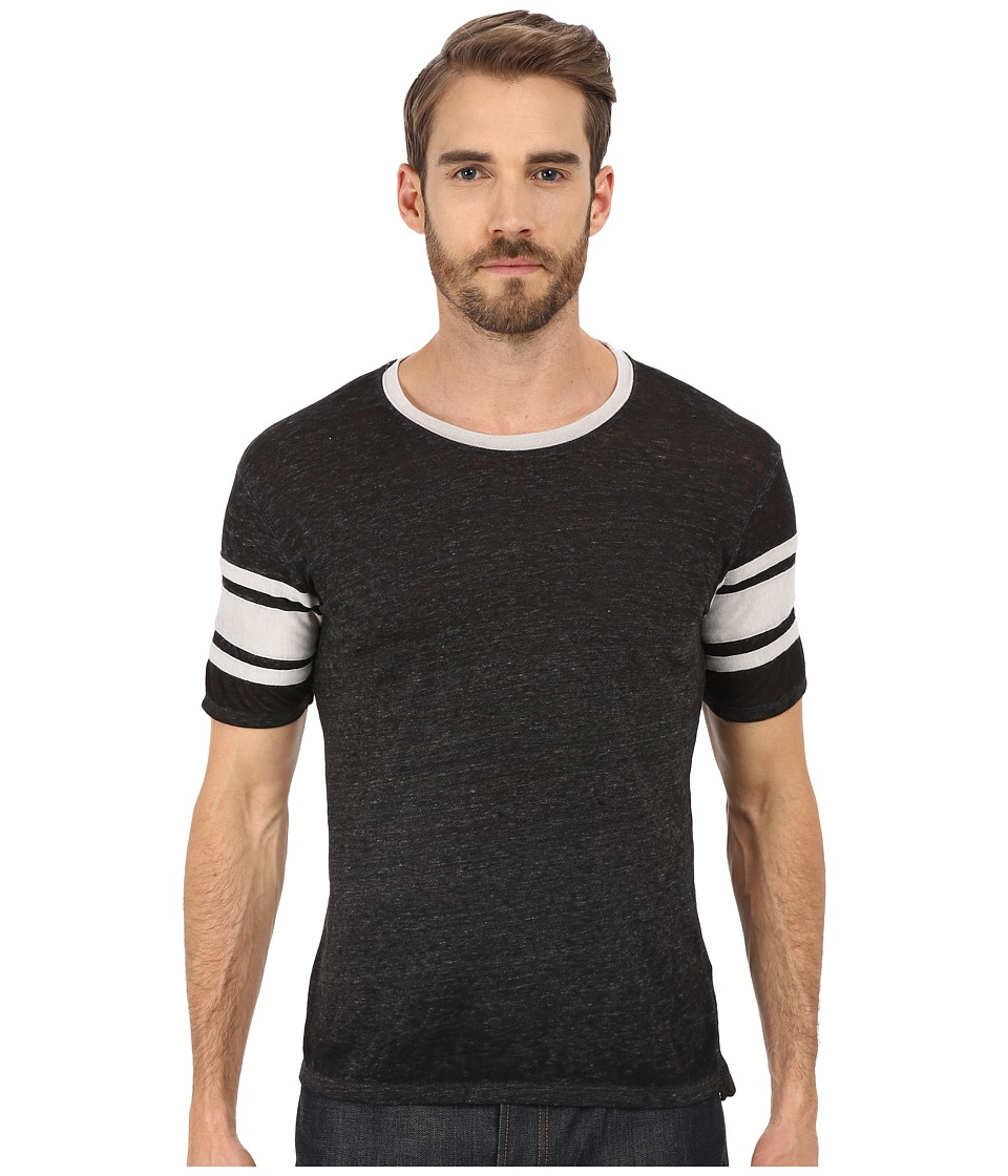 Alternative - Eco Jersey Burnout Touchdown Tee (Eco Black) Men's T Shirt