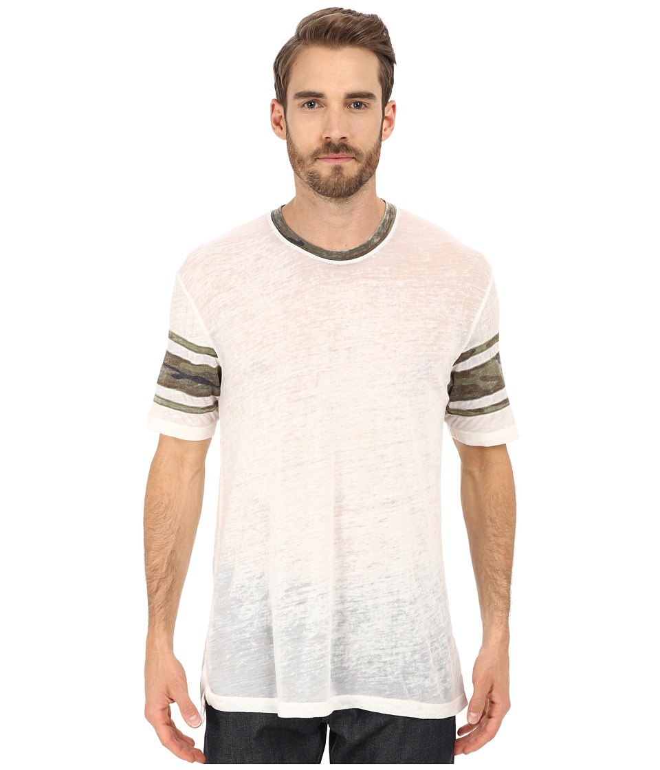 Alternative Eco Jersey Burnout Touchdown Tee (Eco Ivory) Men