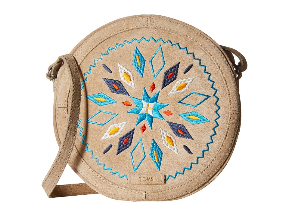 TOMS - Embroidered Crossbody (Natural) Cross Body Handbags