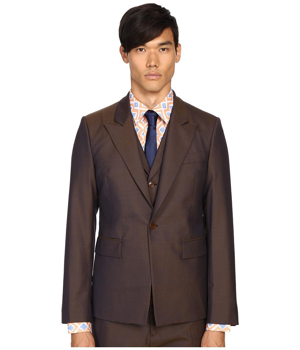 Vivienne Westwood - Wool Waistcoat Jacket (Blue/Green) Men's Coat