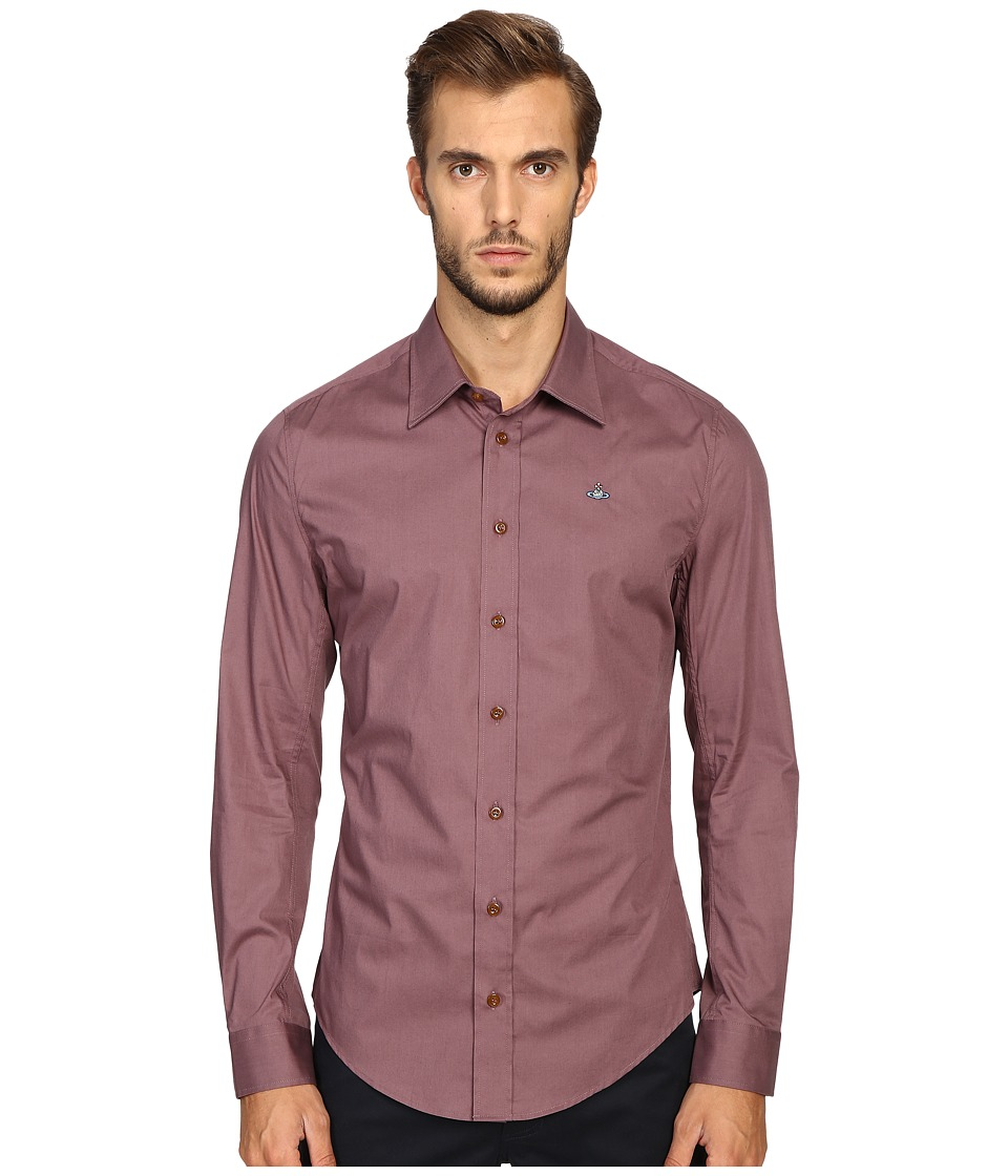 Vivienne Westwood - Basic Stretch Poplin Shirt (Grape) Men's Clothing