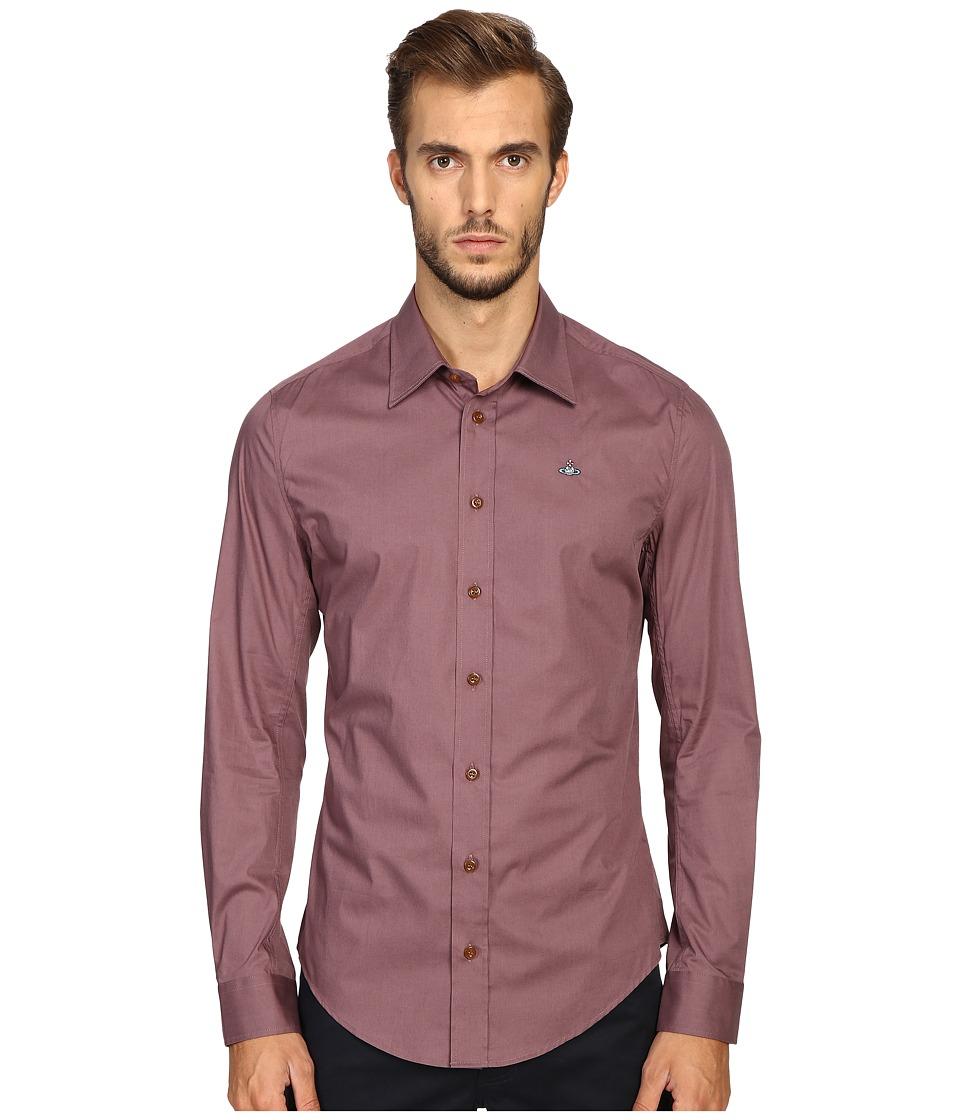 Vivienne Westwood - Basic Stretch Poplin Shirt (Grape) Men's Clothing