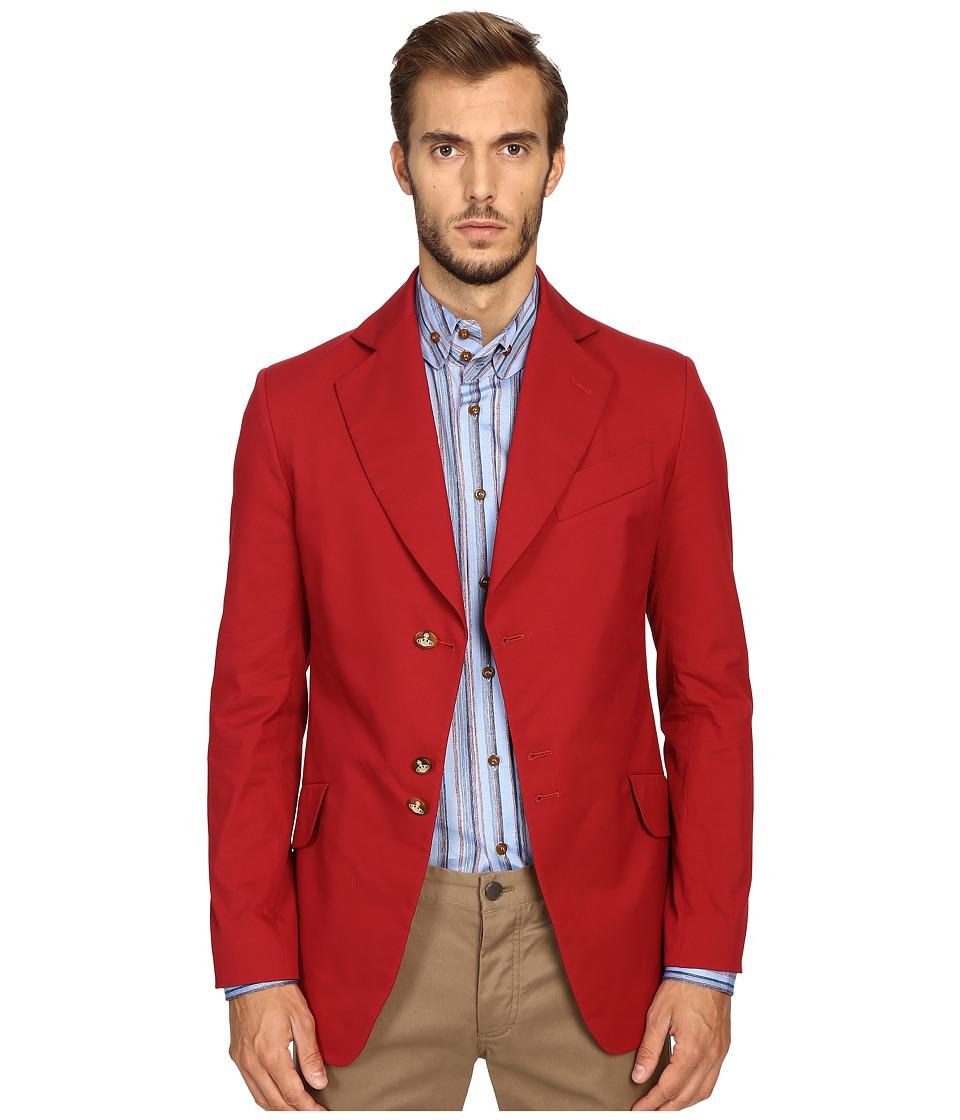 Vivienne Westwood - Stretch Cotton Peacock Jacket (Red) Men's Coat