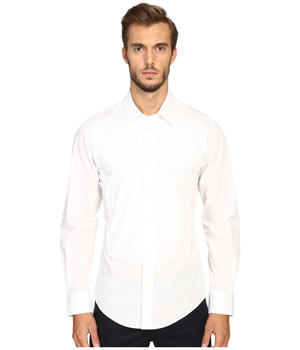 Vivienne Westwood - Plain Stretch Poplin Guitar Shirt (White) Men's Clothing