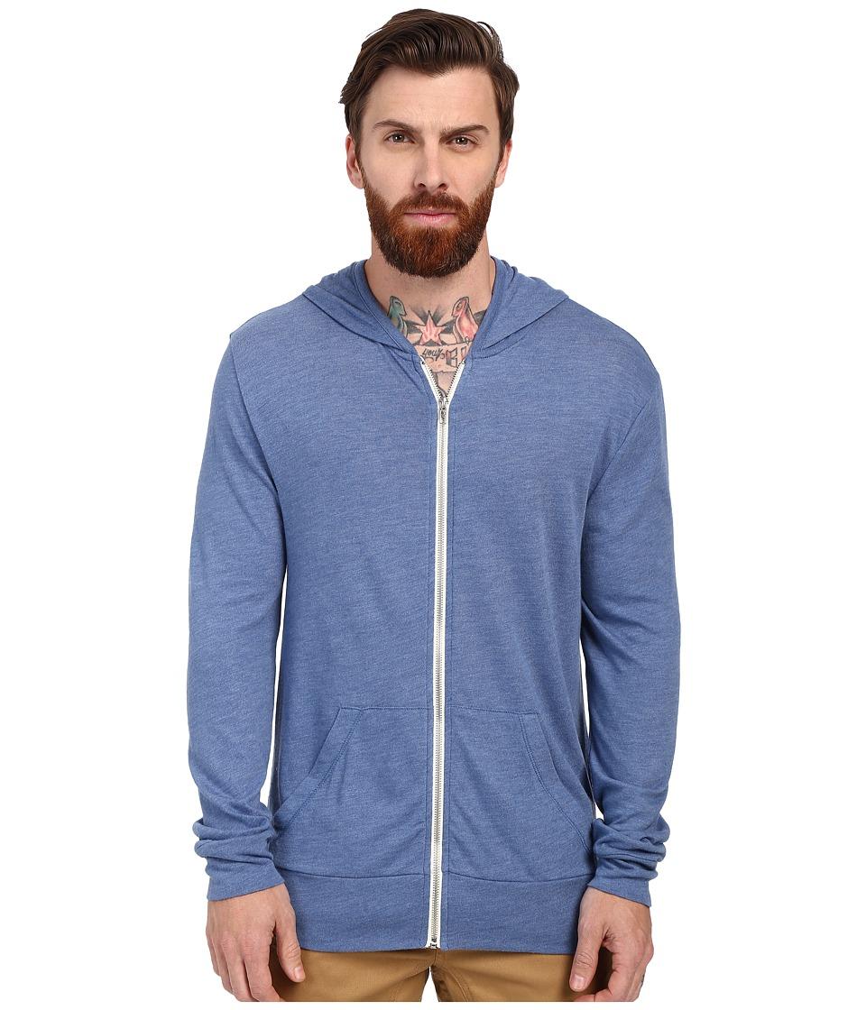 Alternative - L/S Zip Hoodie (Eco True Ocean Blue) Men's Sweatshirt