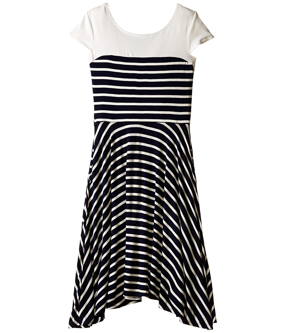 fiveloaves twofish - Genevieve Dress (Little Kids/Big Kids) (Navy) Girl's Dress
