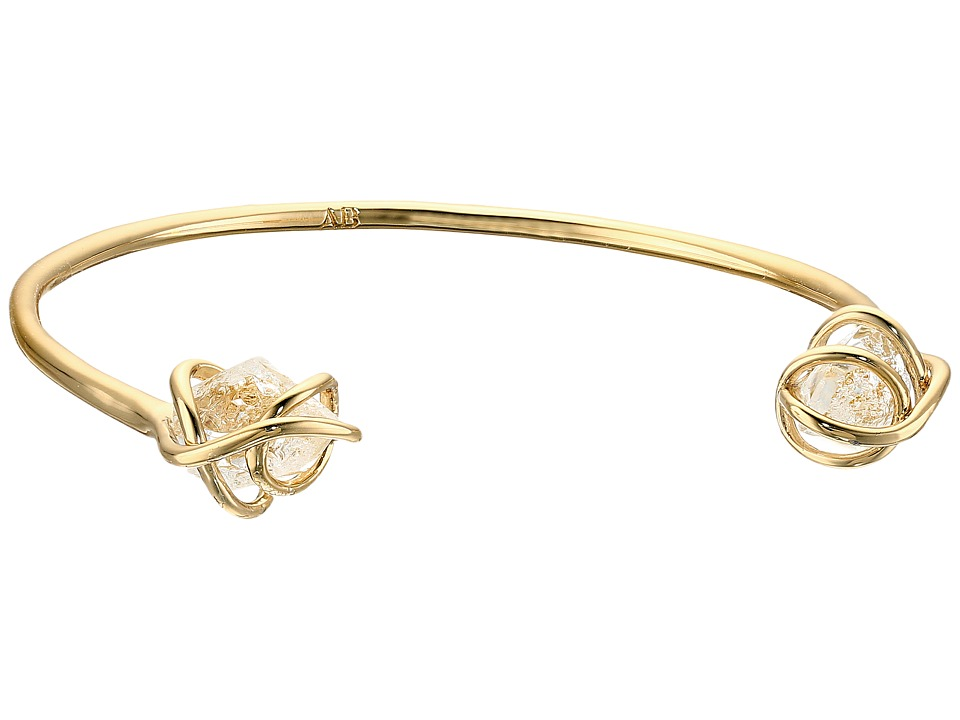 Alexis Bittar - Caged Cuff w/ Rough Cut Crystal Nuggets Bracelet (10K Gold) Bracelet