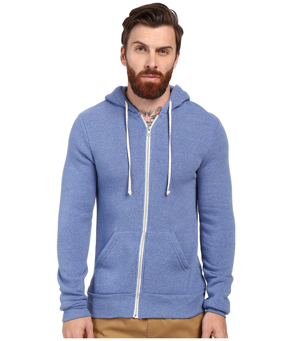 Alternative - Rocky Zip Hoodie (Eco True Ocean Blue) Men's Sweatshirt
