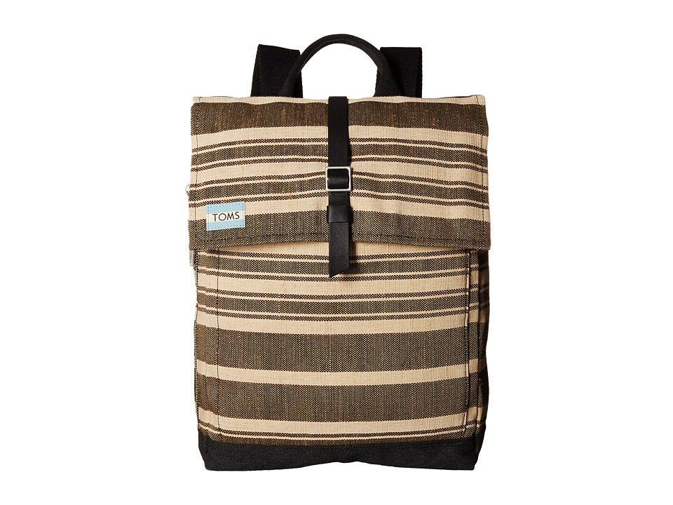 TOMS - Two-Tone Stripe Backpack (Black) Backpack Bags
