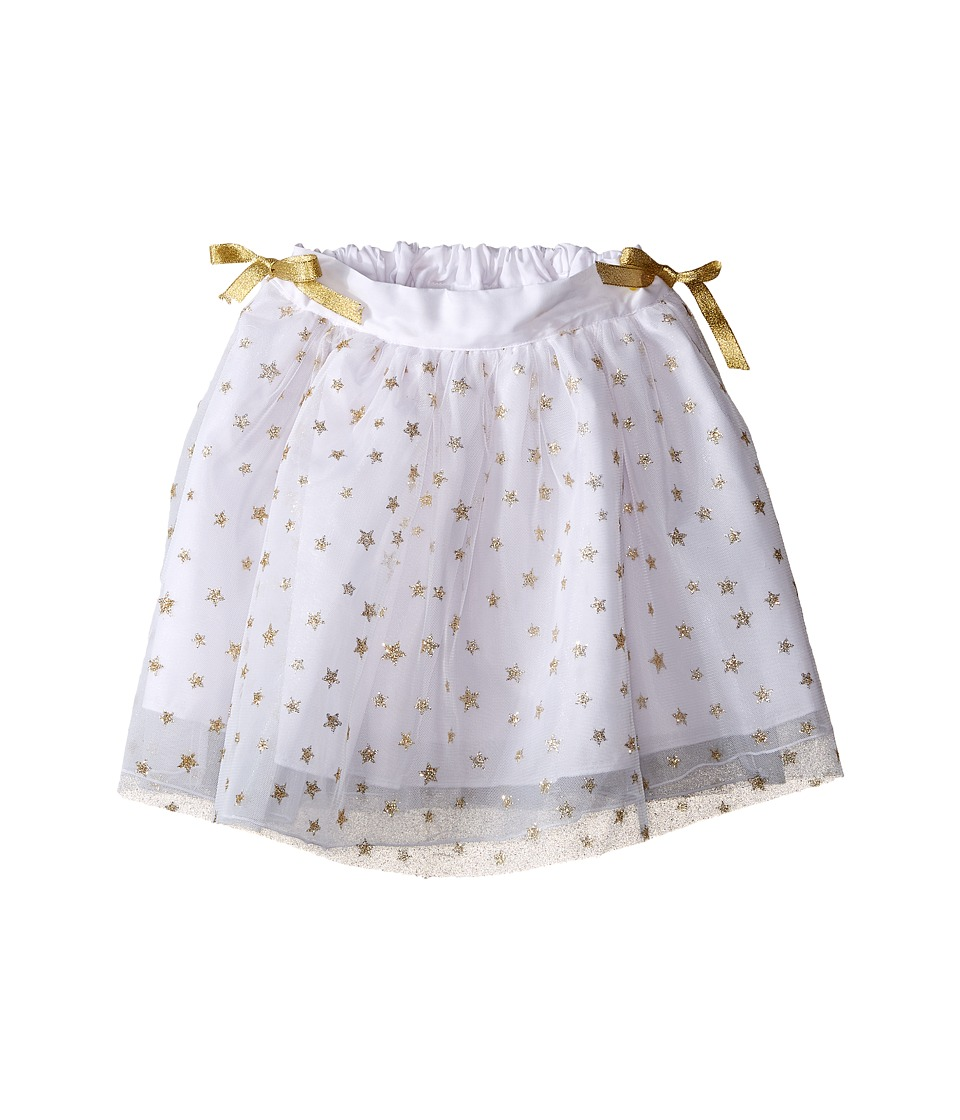 fiveloaves twofish - Wishes Stars Tutu (Little Kids/Big Kids) (White/Gold) Girl's Skirt