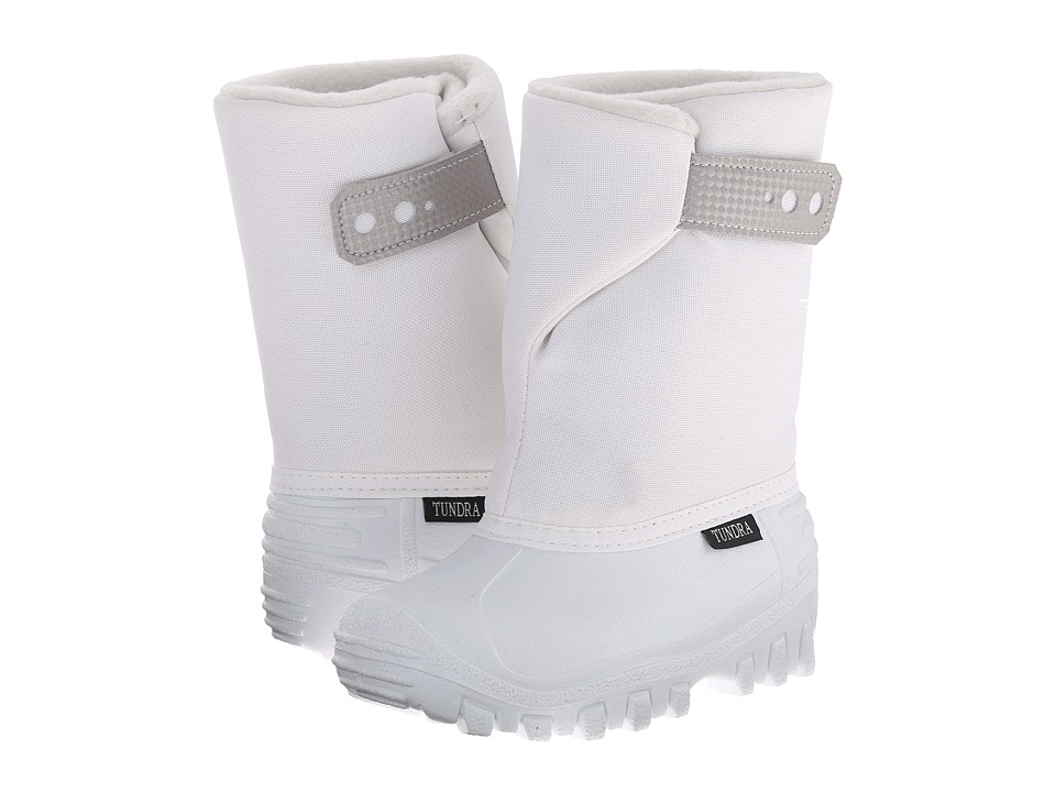 Tundra Boots Kids - Teddy 4 (Toddler/Little Kid) (White/White) Girls Shoes