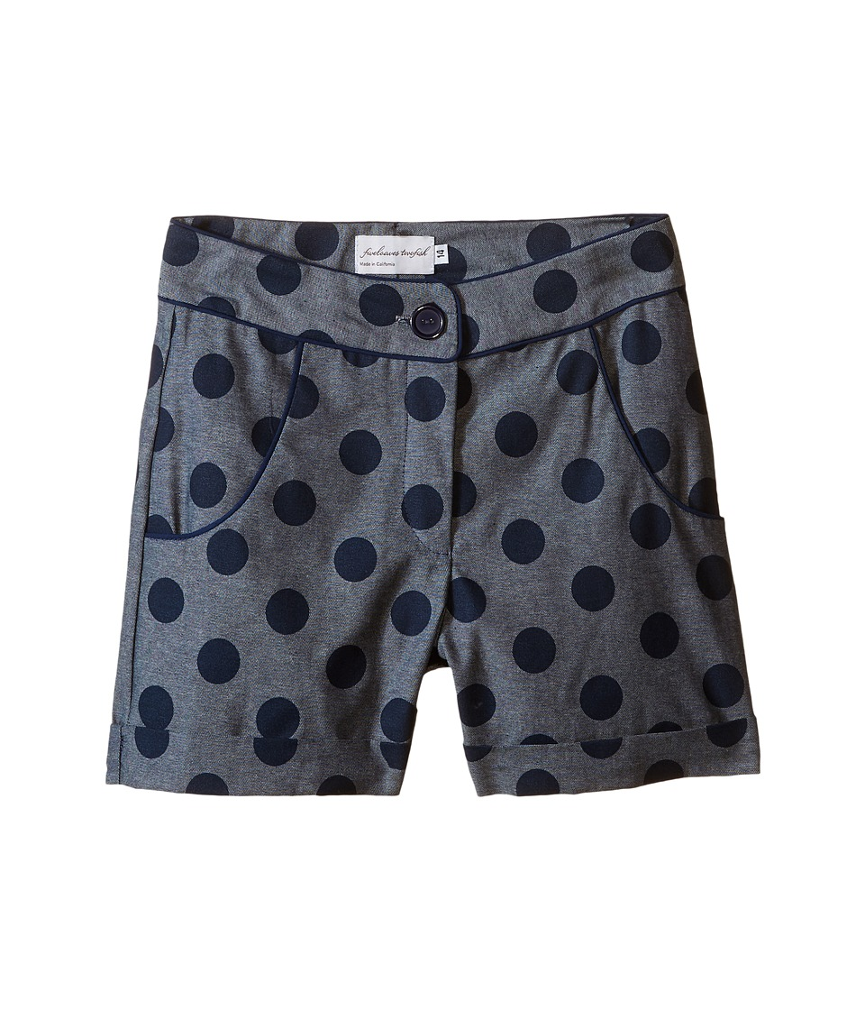 fiveloaves twofish - Spot on Shorts (Little Kids/Big Kids) (Denim) Girl's Shorts