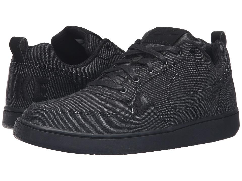 Nike - Recreation Low Prem (Black/Black/Black) Men's Basketball Shoes