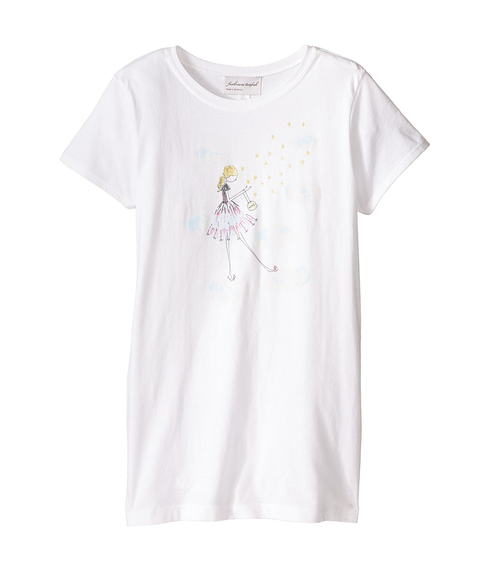 fiveloaves twofish - Wishes Tee (Little Kids/Big Kids) (White) Girl's Short Sleeve Pullover