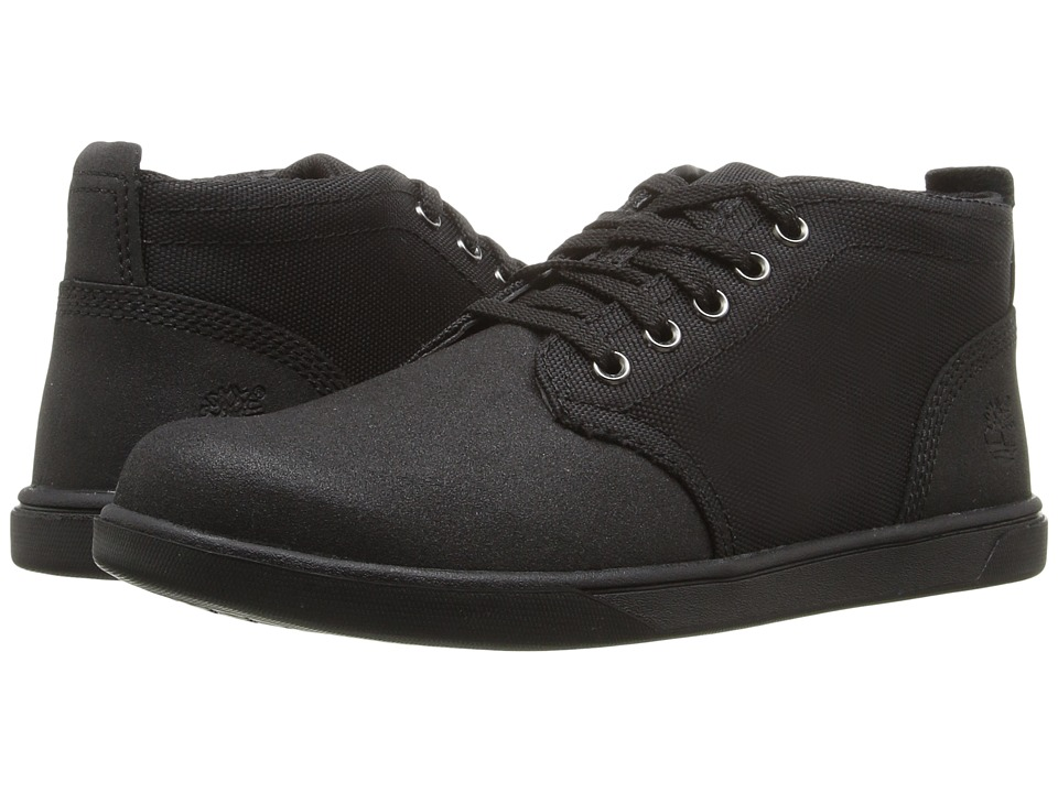 Timberland Kids - Groveton Chukka Leather and Fabric (Big Kid) (Black Tech Tuff Leather) Kid's Shoes