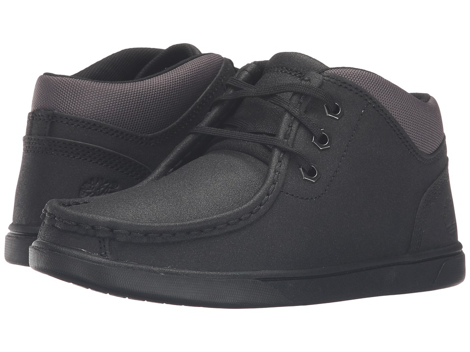 Timberland Kids - Groveton Leather Moc Toe Chukka (Big Kid) (Black Tech Tuff Leather) Kid's Shoes