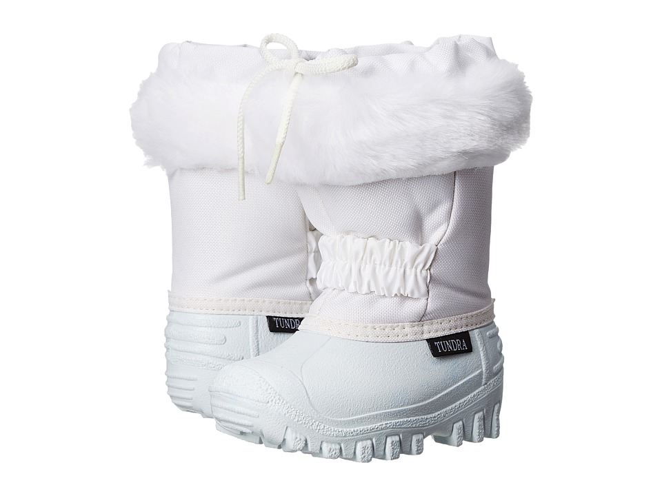 Tundra Boots Kids - Glacier (White/White) Girls Shoes
