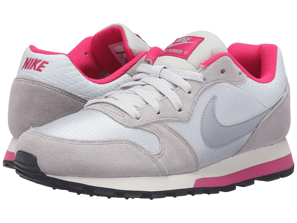 Nike - MD Runner 2 (Pure Platinum/Wolf Grey/Vivid Pink/Sail) Women's Classic Shoes