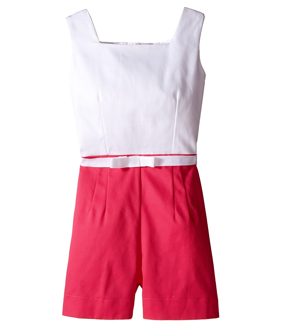 fiveloaves twofish - Malibu Romper (Little Kids/Big Kids) (Hot Pink/White) Girl's Jumpsuit & Rompers One Piece