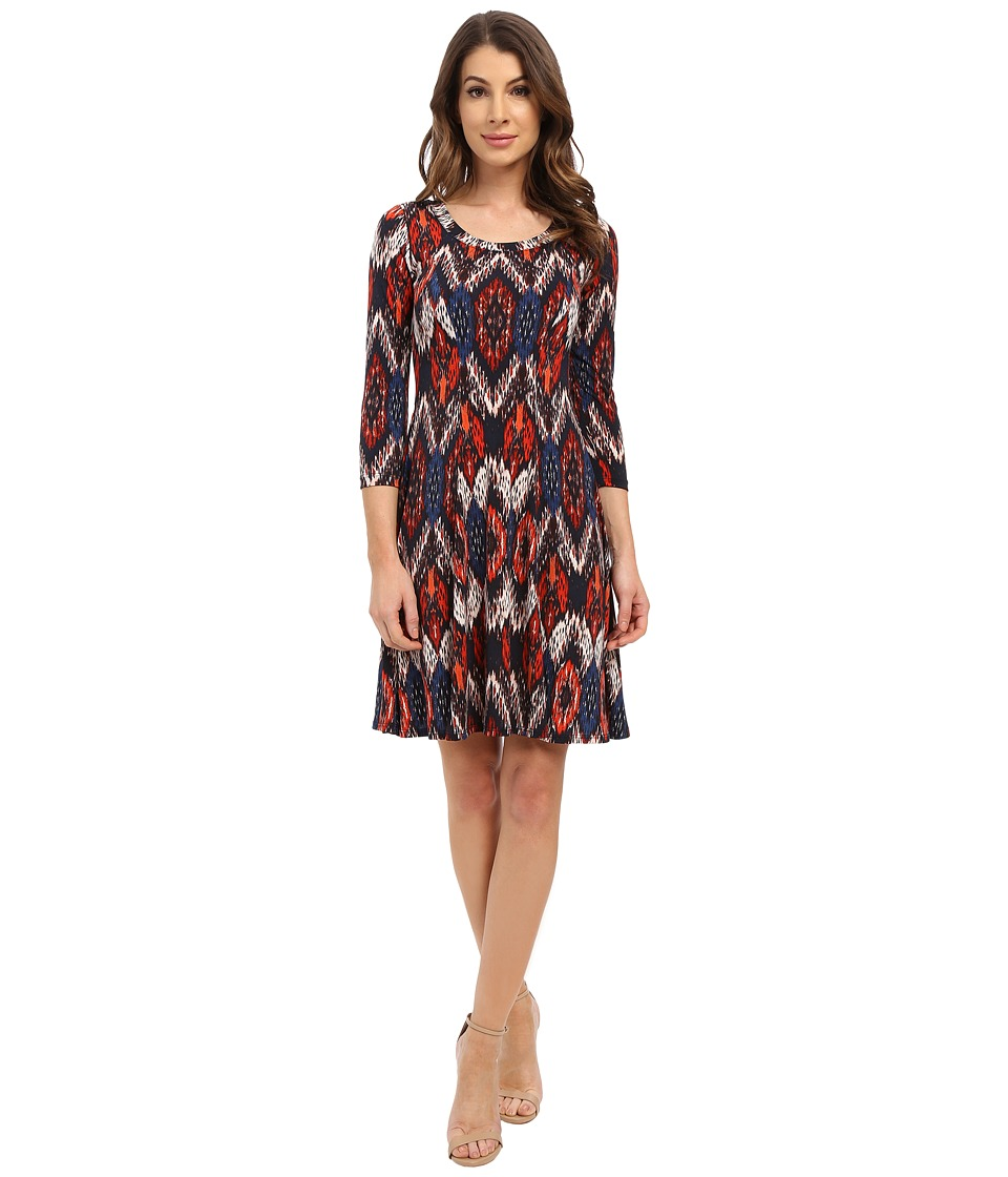 Karen Kane - Pacific Ikat A-Line Dress (Print) Women's Dress