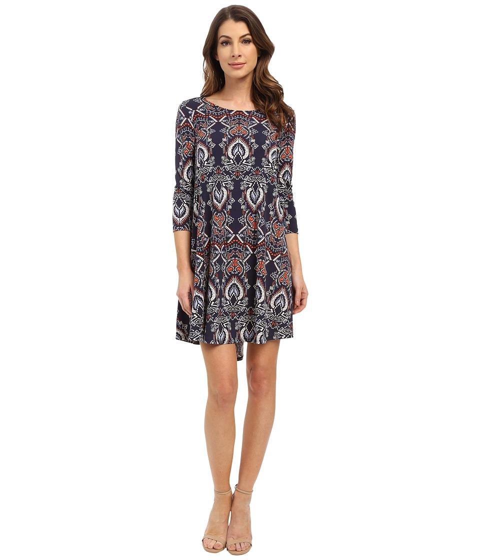 Karen Kane - Geo Print Maggie Trapeze Dress (Print) Women's Dress