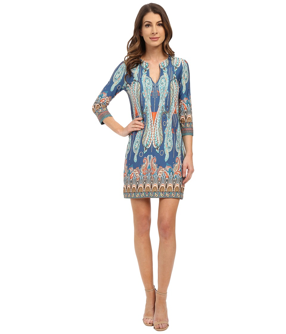 Karen Kane - Paisley Print Shift Dress (Print) Women's Dress