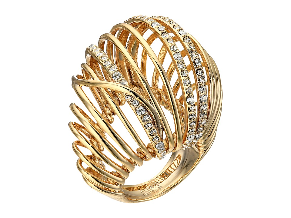 Alexis Bittar - Orbital Cocktail Ring w/ Crystal Accents (10K Gold) Ring