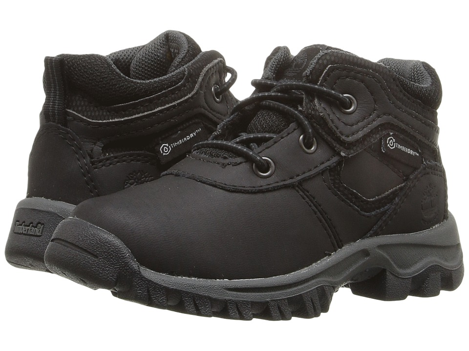 Timberland Kids - Mt. Maddsen Mid Waterproof (Toddler/Little Kid) (Black Oiled) Kid's Shoes