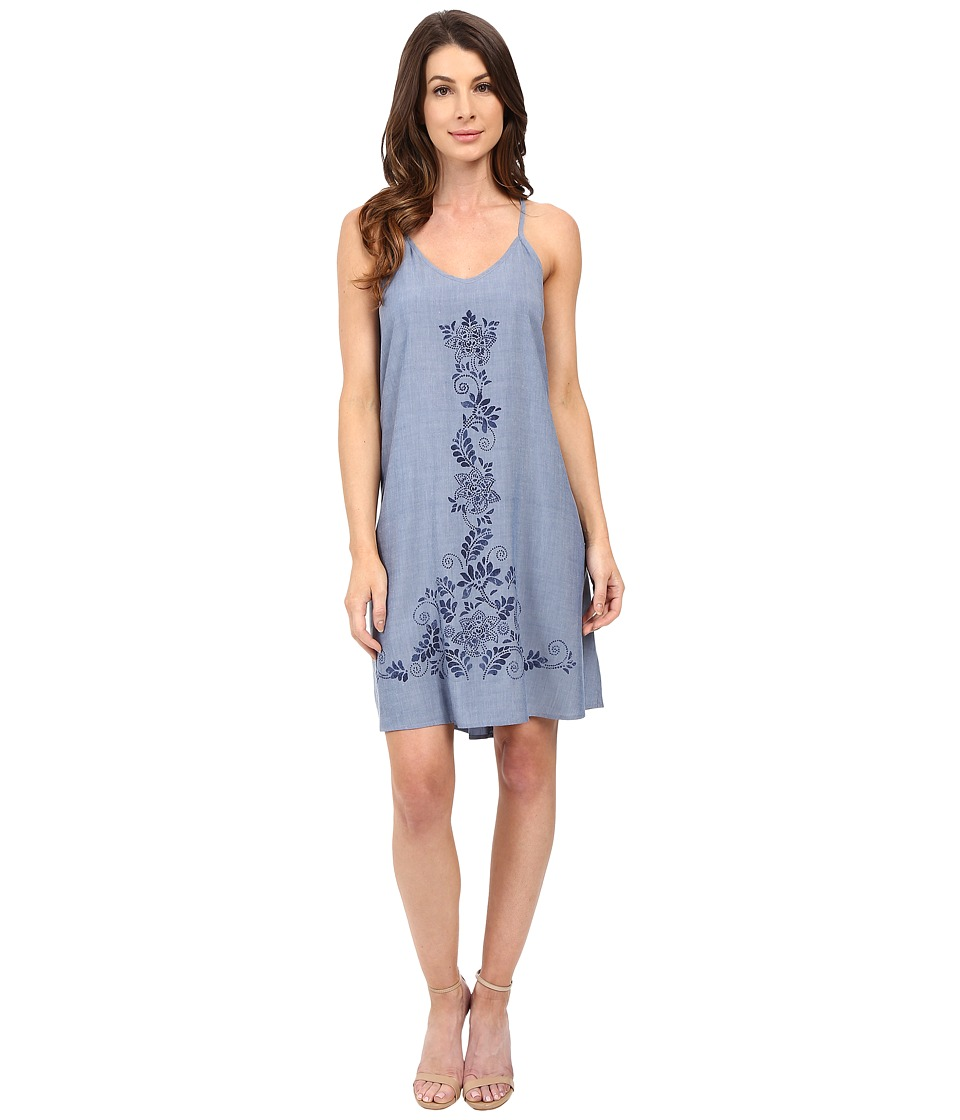 Karen Kane - Print T-Back Dress (Chambray) Women's Dress