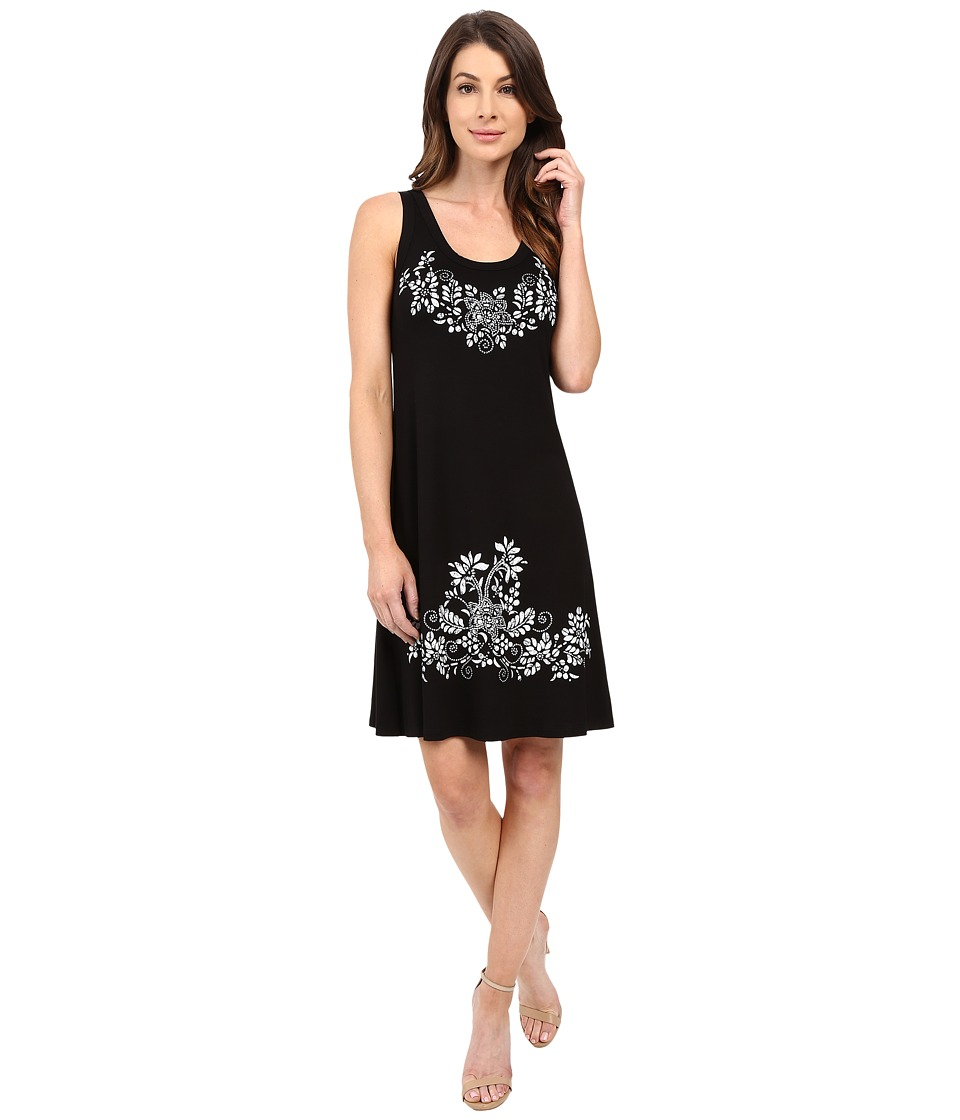 Karen Kane - Print Tank Dress (Black/Off-White) Women's Dress
