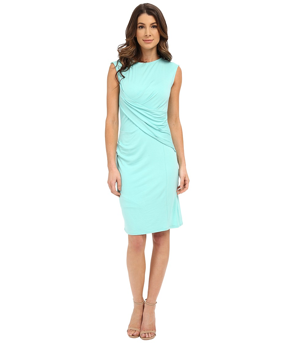 KUT from the Kloth - Scoop Neck Dress w/ Cross Over Back (Seafoam) Women's Dress